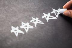 Cinco estrelas Imagens de Stock Royalty Free