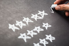 Cinco estrelas Foto de Stock
