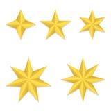 Cinco estrelas diferentes Fotos de Stock Royalty Free