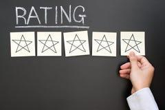 Cinco estrelas que avaliam o feedback Fotos de Stock