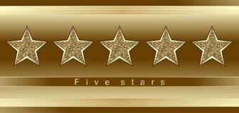 Cinco estrellas Foto de archivo libre de regalías