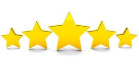 Cinco estrellas Imágenes de archivo libres de regalías