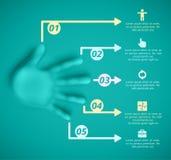 Cinco etapas ilustração do vetor