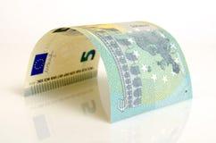 Cinco euros Fotos de archivo libres de regalías