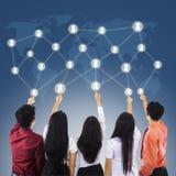 Conexões de rede do negócio Foto de Stock Royalty Free