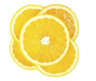 Cinco fatias de limão Fotos de Stock
