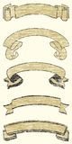 Cinco fitas de Grunge ilustração royalty free