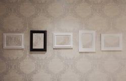 Cinco frames vazios Fotografia de Stock