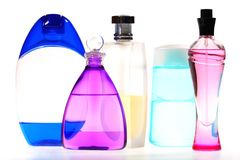 Cinco frascos Varicolored fotografía de archivo