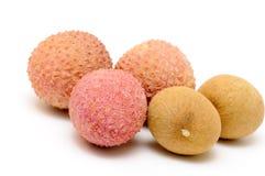 Cinco frutas do lychee Imagem de Stock