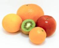 Cinco frutos gostados por tudo Fotografia de Stock