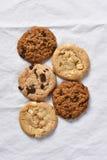 Cinco galletas Imagen de archivo