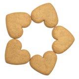 Cinco galletas del pan de jengibre imágenes de archivo libres de regalías
