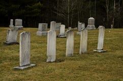 Cinco headstones imagem de stock