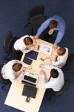 Cinco hombres de negocios del encuentro Imagen de archivo libre de regalías