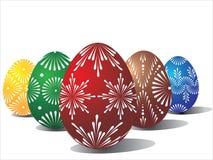 Cinco huevos de Pascua Imagen de archivo libre de regalías