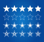 Cinco iconos del premio de la calidad de la estrella Fotos de archivo
