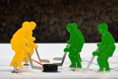 Cinco jugadores de hockey Fotos de archivo