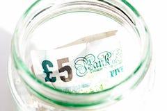 Cinco libras Imagens de Stock Royalty Free