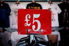 Cinco libras foto de stock