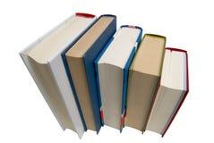 Cinco livros Imagem de Stock Royalty Free