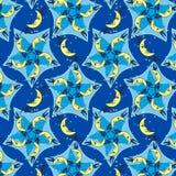Cinco lunas Mandala Pattern Imagen de archivo libre de regalías