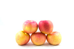 Cinco maçãs vermelhas Imagem de Stock