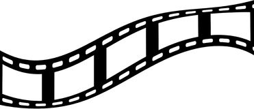 Cinco marcos de película en blanco Imagenes de archivo