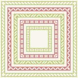 Cinco marcos para el bordado del punto de cruz de la Navidad Fotos de archivo