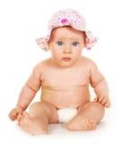 Cinco meses de retrato velho do bebê Imagens de Stock Royalty Free
