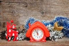 Cinco minutos a doce Año Nuevo Imagen de archivo libre de regalías