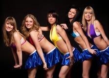 Cinco mujeres atractivas Fotografía de archivo libre de regalías