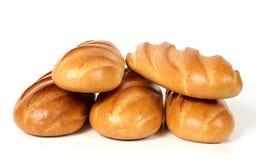 Cinco nacos do pão branco Imagens de Stock Royalty Free