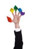 Cinco naves de papel Imagen de archivo libre de regalías