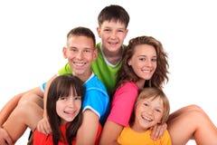 Cinco niños felices imagen de archivo