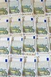 Cinco notas euro Fotografía de archivo