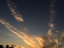 cinco nuvens Foto de Stock Royalty Free