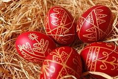 Cinco ovos de easter Fotografia de Stock Royalty Free
