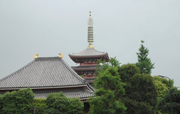 Cinco pagoda famosa, Senso-Ji Imagen de archivo