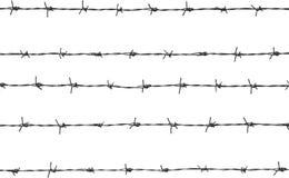Cinco pedazos de alambre de púas Imagenes de archivo