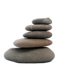 Cinco pedras do zen Fotografia de Stock