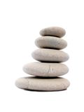 Cinco pedras do zen Foto de Stock