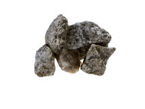 Cinco pequeñas piedras grises Foto de archivo libre de regalías