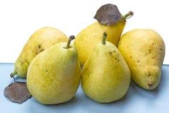 Cinco peras maduras Foto de archivo