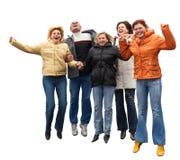 Cinco povos expressivos Fotografia de Stock