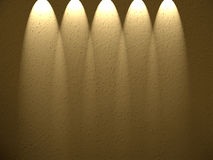 Cinco projectores para baixo. Fotografia de Stock