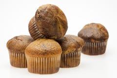 Cinco queques Imagem de Stock