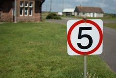 Cinco quilómetros por hora de sinal Imagem de Stock