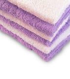Cinco toalhas coloridas Fotografia de Stock