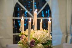 Cinco velas Imagem de Stock